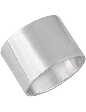 Silverly Frauen Männer 925 Sterling Silber Polierte Plain Einfach Glatte Dick Large Band Ring