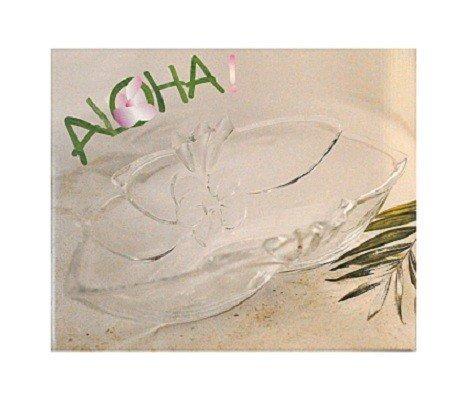 Walther Glas Serie 'Aloha' Zierschale Glasplatte Glasvase, Motiv:Glas Zierschale 35 cm