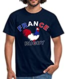 Rugby Coq De France T-Shirt Homme, 4XL, Marine