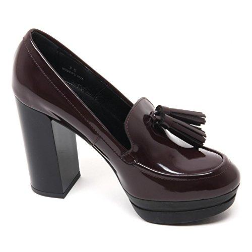 B7362 decollete donna HOGAN H299 OPTY scarpa bordeaux shoe woman Bordeaux