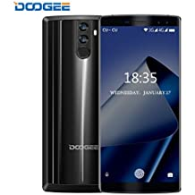 Moviles Libres Baratos, DOOGEE BL12000 Movil Dual Sim, 6.0 pulgadas FHD+ , 4G Android 7.0 Smartphone, Octa-Core MT6750T 1.5GHz, 12000mAh 4GB+32GB (Ampliable 256GB), 16.0MP+13.0MP Cámaras Traseras Duales, Huella Dactilar Telefonos - Negro