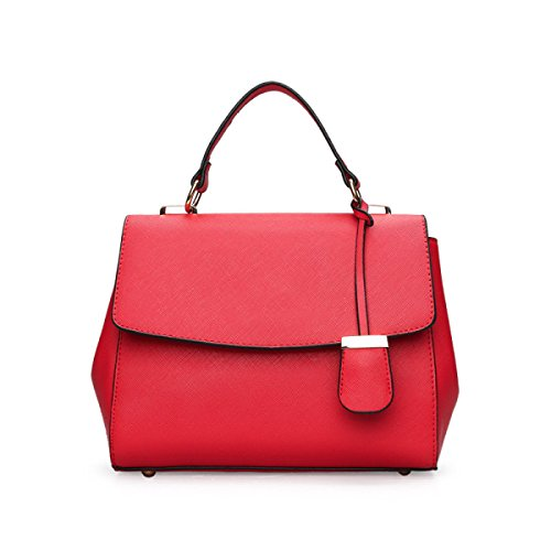 Dame Lässig Retro Mode Handtaschen Hand Schulter Kuriertasche Red