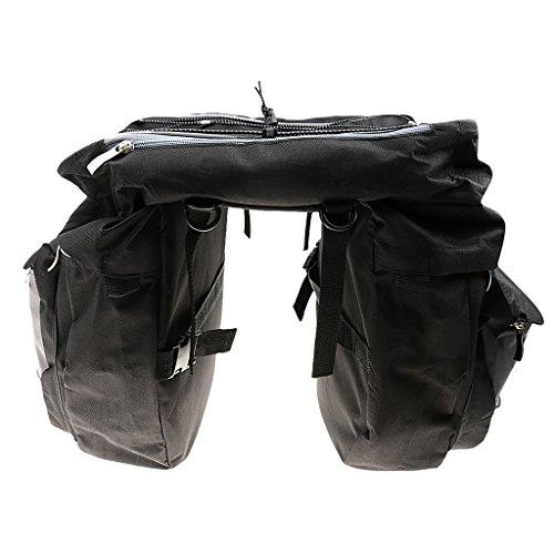Bicicleta De 43L Alforjas De Carga Trasera De Doble Negro Paquete De Maletas De Pasajeros