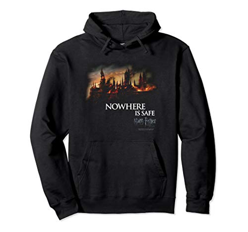 Harry Potter Burning Hogwarts Pullover Hoodie