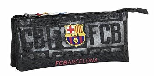 FCBARCELONA Estuche portatodo triple de FC Barcelona ' Black'
