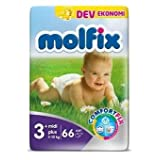 MOLFİX DEV PK NO:3+ (5-10KG) 66 ADET MİDİ PLUS