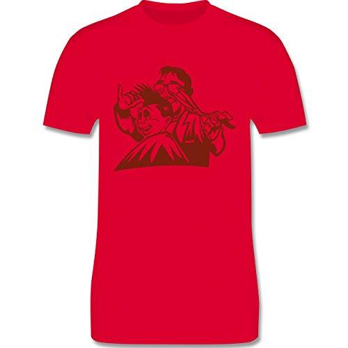 Handwerk - Friseur - Herren Premium T-Shirt Rot