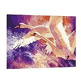 P Prettyia Villa DIY Malen Nach Zahlen Kits DIY Ölfarbe Ölgemälde Malen nach Zahlen Wanddekoration Malerei Farbe durch Zahl Rahmenlos - fliegen schwan, 40x50cm