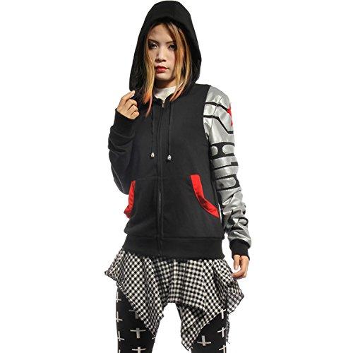 Hoodies Kostüm Erwachsene Für - Erwachsene Cosplay Kostüm Bucky Schwarz Baumwolle Hoodie Kapuzenpullover Sweatshirt Frühling Herbst Kleidung Glühend