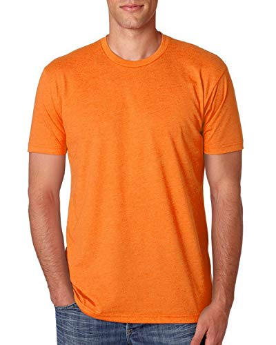 Next Level Mens Premium Fitted CVC Crew Tee (N6210) -ORANGE -4XL (Fitted Baby T-shirt Rib)