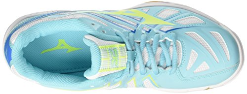 Mizuno Wave Hurricane Wos, Scarpe da Pallavolo Donna Multicolore (White/Safetyyellow/Blueradiance)