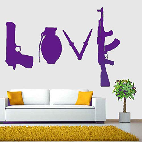 zqyjhkou s Armi Amore Adesivi murali Vinile Decorazioni per la casa Soggiorno Decorazione 6 68cmX60cm