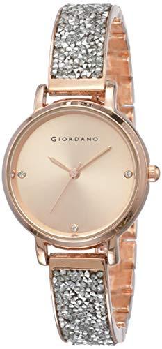 Giordano Analog Rose Gold Dial Women's Watch-C2162-22