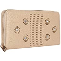 k kaparrow women | girls stylish wallet | clutch | clutches with artificial diamond fitting (cream)