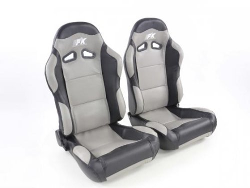 FK Automotive FKRSE805/806 Sportsitz Autositz Halbschalensitz Set Spacelook Carbon Rennsitz in Motorsport-Optik