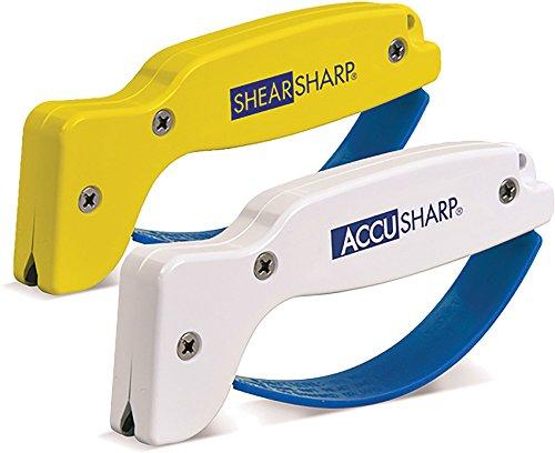 AccuSharp ACCU-012C Messerschärfer und Shear Sharp Scherenschärfer, Weiß/Orange