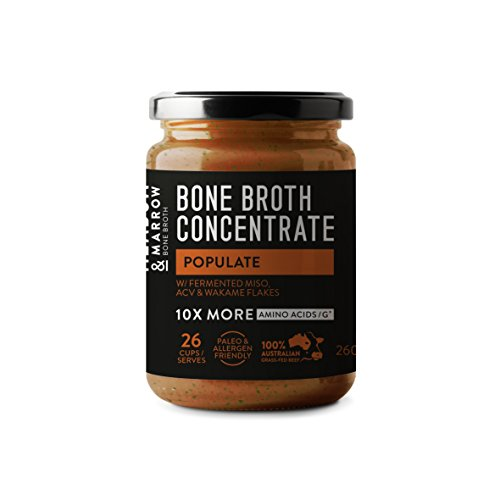 Burn - Performance Beef Bone Broth Concentrate Range - MCT Oil, Matcha green tea, Olive leaf, Ginseng (Tea Green Tonic)
