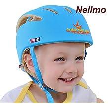 Nellmo - Casco de protección para bebé, gorra protectora para cabeza de bebé, gorra