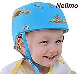 Nellmo casco da bambino infantili cappello di testa di cotone cappello del bambino regolabile di sicurezza casco blu blue