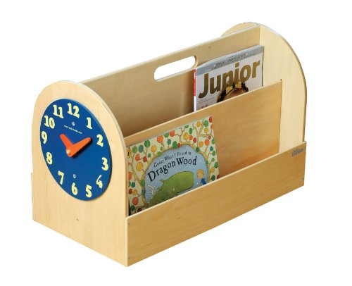 Preisvergleich Produktbild Tidy Books ® - Die originale Kinder-Bücherbox in Natur - Aufbewahrung für Kinderbücher - Tragbares Bücherregal aus Holz für Kinder - 34 x 54 x 28 cm