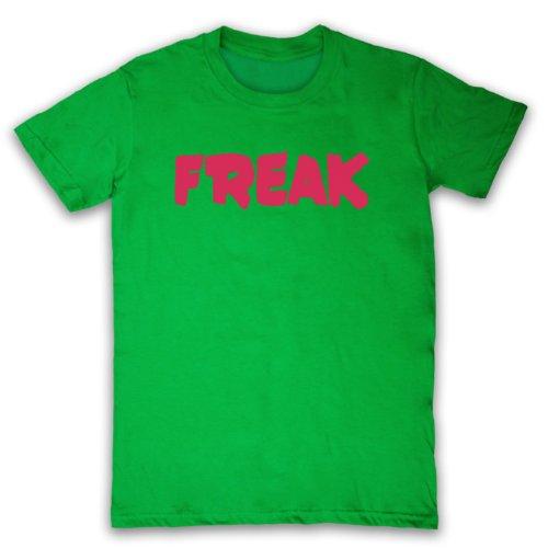 Freak Slogan Herren T-Shirt Grun