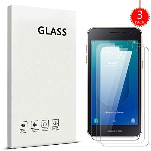 ZHXMALL [3 Stück] Samsung Galaxy J2 Core Panzerglas Schutzfolie, [2.5D R&e Kante] [9H Härte] [Bubble-frei] [Einfache Installation] 3D Touch HD-Klar Gehärtetes Glas Bildschirmschutzfolie