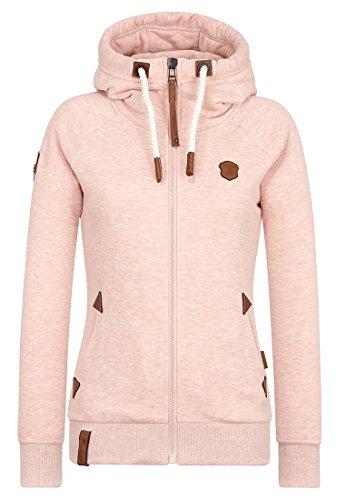 Naketano Female Zipped Jacket Blonder Engel Pastel Pink Melange, XXL