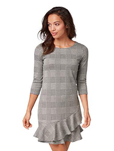 TOM TAILOR für Frauen Kleider & Jumpsuits Kleid mit Volant Glencheck Artwork, 38