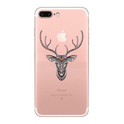 IPHONE 7 Hülle Flamingos Katze Giraffe Weich Silikon TPU Schutzhülle Ultradünnen Case für iPhone 7 Schutz Hülle Hirsch