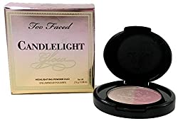 Too Faced Candlelight Glow Highlighting Powder Duo Rosy Glow Travel Size