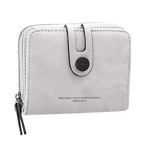 Bfmyxgs Exquisite Mini Compact Multifunktionskarten-Pack Geldbörse Tasche Reißverschluss Schnalle Anti-Diebstahl -