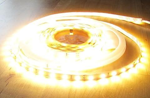 ULTRA-HIGHPOWER LED Strip Streifen Leiste SUPERHELL 5mt warmweiß warm weiss weiß 300LED 24V (PRO-Serie) (ohne Netzteil), 6100Lumen von AS-S