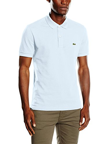 Lacoste Herren Poloshirt Rot, Blau (Ruisseau), XXX-Large (Herstellergröße: 8) (Mini Piqué-polo-shirt)