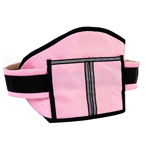 Kinder Kinder Motorrad Sicherheitsgürtel schützen Klettergurte Elektrofahrzeug Safe Strap Carrier Sicherheitsgurt, pink