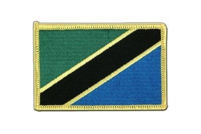 Tansania Aufnäher, tansanische Flagge 6x8cm, MaxFlags® - Patch Tansania