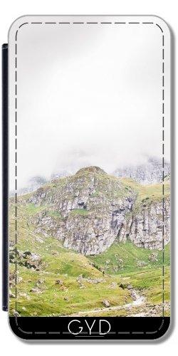 Leder Flip Case Tasche Hülle für Apple iPhone 6 Plus / 6S Plus - Die Alpen, Berge, Landschaft by Petra Lederoptik