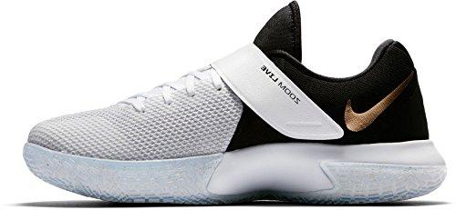 Nike, Scarpe Basket uomo Bianco/nero-oro metallizzato