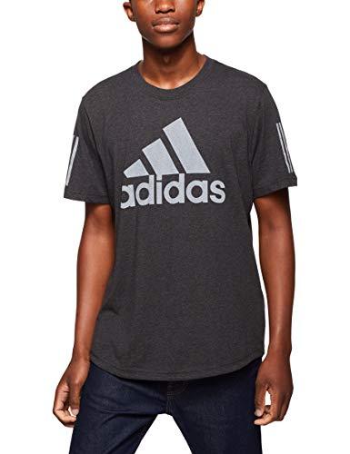 adidas Herren M Sid Logo Tee T-Shirt, Schwarz (Black Melange), Large -