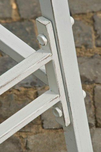 CLP 2 Sitzer / 3 Sitzer Garten Hollywoodschaukel AIMEE, Landhaus-Stil, Metall (Eisen) antik-weiß - 7