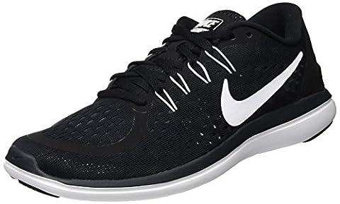 Nike Flex 2017 Run, Chaussures de Running Femme, Noir (Black/White-Anthracite-Wolf Grey), 39 EU