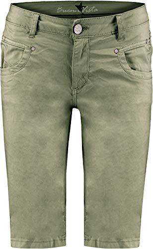 Buena Vista Damen Jeans Anna C-Short Stretch Twill Khaki XS -