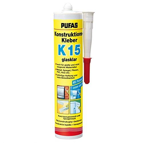 Pvc-decken-fliesen (Pufas Konstruktions-Kleber K15 klebt Metall, Spiegel, Fliesen PVC, Holz etc. 0,300 KG)