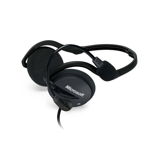 "Price comparison product image Microsoft LifeChat LX-2000 Binaural Neck-band Black headset - headsets (PC / Gaming,  Binaural,  Neck-band,  Black,  Wired,  3.5 mm (1 / 8""))"