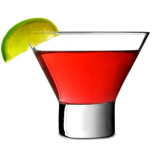 Petra Martinigläser 8.5 oz/240 ml - Set aus 12 | 24cl Cocktailgläser, Martinigläser ohne Stiel