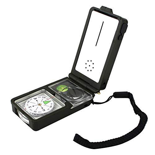 heresell Multifonctionnel 10 en 1 Compas Thermomètre Outil Pratique en Plein Air Imperméable Et Shakeproof pour Camping Randonnée Cadeau