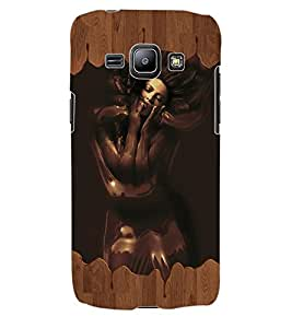 ColourCraft Chocolate Girl Design Back Case Cover for SAMSUNG GALAXY J1