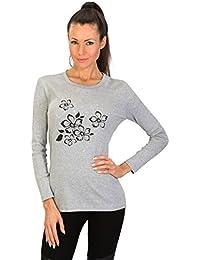 Womens Tshirt FLOWER - gris