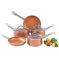 Salter BW07174AR - Juego de sartenes de cerámica de cobre (5 piezas)