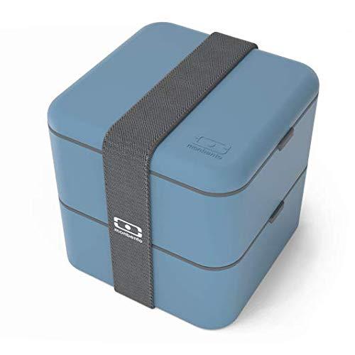 monbento Square Bento Box, Kunststoff, Denim, 14 x 14 x 14 cm