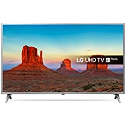 LG 55UK6500PLA 55-Inch UHD 4K HDR Smart LED TV with Freeview Play - Steel Silver/Black (2018 Model)